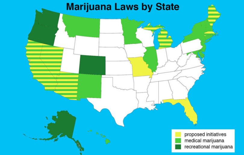 Here Are the Next 8 States Expected To Have Marijuana Ballot