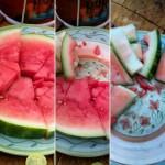 Farm-fresh watermelon doesn't last long round here!