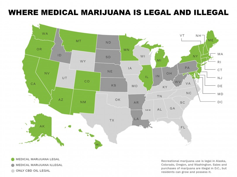 MAP: Medical marijuana laws state by state | Marijuana Drug Facts