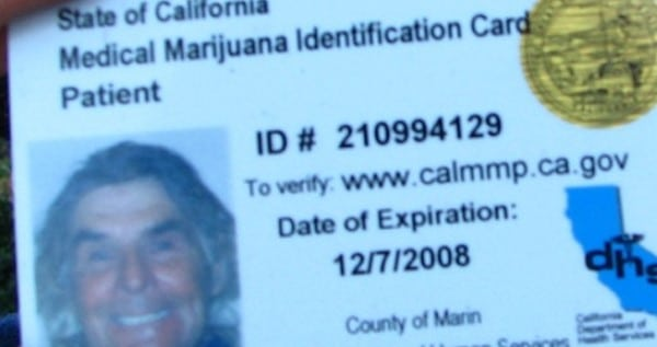 Medical Card is not needed in California