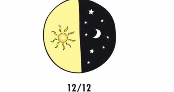 12 hours darkness and 12 hours sun